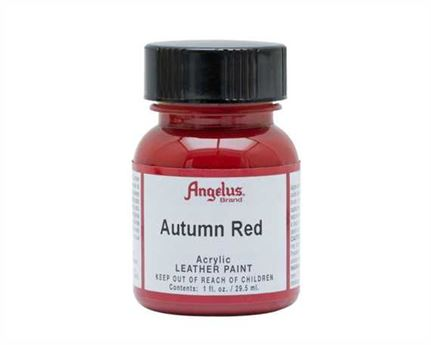ANGELUS ACRYLIC PAINT AUTUMN RED #184 29ML USE ON LEATHER, VINYL OR FABRIC
