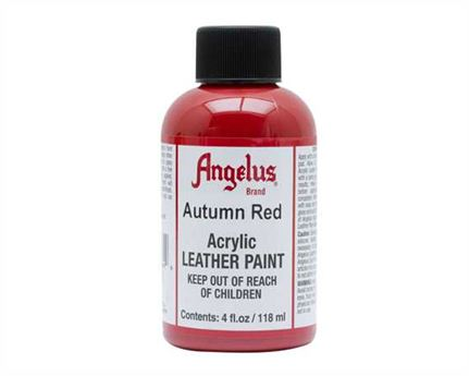 ANGELUS ACRYLIC PAINT AUTUMN RED #184 118ML USE ON LEATHER, VINYL OR FABRIC