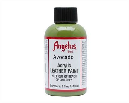 ANGELUS ACRYLIC PAINT AVOCADO #170 118ML USE ON LEATHER, VINYL OR FABRIC