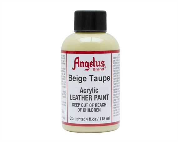 ANGELUS ACRYLIC PAINT BEIGE TAUPE #165 118ML USE ON LEATHER, VINYL OR FABRIC