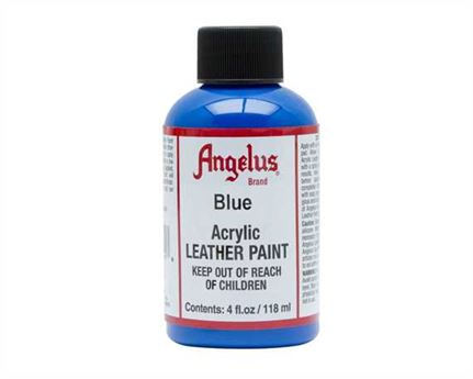 ANGELUS ACRYLIC PAINT BLUE #040 118ML USE ON LEATHER, VINYL OR FABRIC