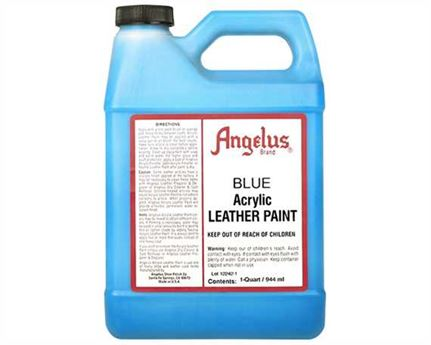 ANGELUS ACRYLIC PAINT BLUE #040 (1 QRT) 946ML USE ON LEATHER, VINYL OR FABRIC
