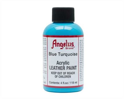ANGELUS ACRYLIC PAINT BLUE TURQUOISE #045 118ML USE ON LEATHER, VINYL OR FABRIC