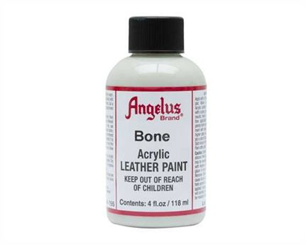 ANGELUS ACRYLIC PAINT BONE #155 118ML USE ON LEATHER, VINYL OR FABRIC