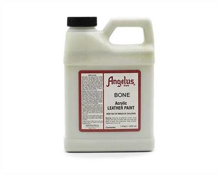 ANGELUS ACRYLIC PAINT BONE #155 (1 PINT) 473ML USE ON LEATHER, VINYL OR FABRIC