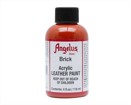 ANGELUS ACRYLIC PAINT BRICK #093 118ML USE ON LEATHER, VINYL OR FABRIC