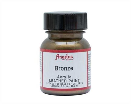 ANGELUS ACRYLIC PAINT BRONZE #142 29ML USE ON LEATHER, VINYL OR FABRIC