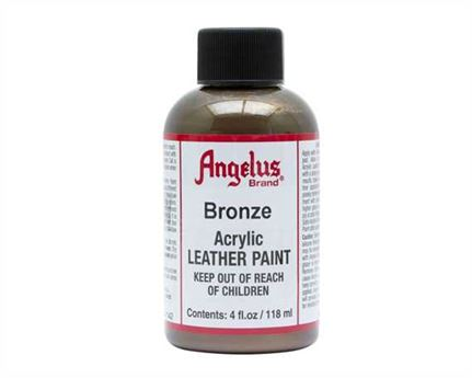 ANGELUS ACRYLIC PAINT BRONZE #142 118ML USE ON LEATHER, VINYL OR FABRIC