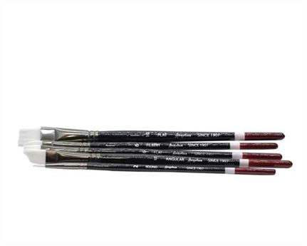 ANGELUS STANDARD SYNTHETIC PAINT BRUSH SET 5 PIECE