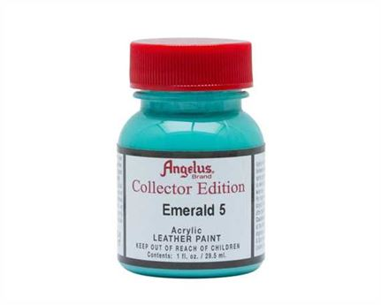 ANGELUS ACRYLIC CE PAINT EMERALD 5 #317 29ML COLLECTORS EDITION