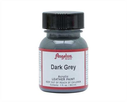 ANGELUS ACRYLIC PAINT DARK GREY #080 29ML USE ON LEATHER, VINYL OR FABRIC