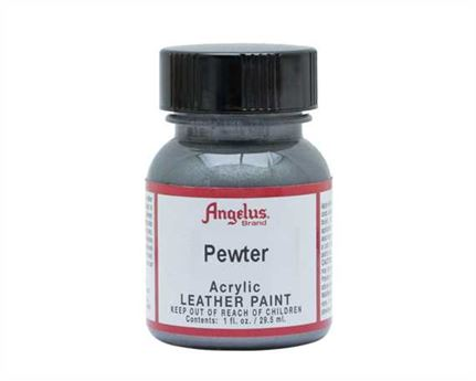 ANGELUS ACRYLIC PAINT PEWTER #143 29ML USE ON LEATHER, VINYL OR FABRIC