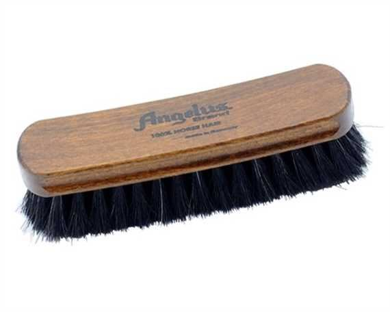 ANGELUS SHOE BRUSH LARGE HORSE HAIR MADE IN GERMANY