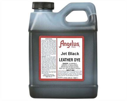 ANGELUS LEATHER DYE JET BLACK #002 1 PINT/473ML