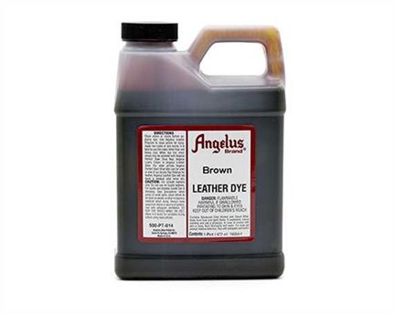 ANGELUS LEATHER DYE BROWN #014 1 PINT/473ML