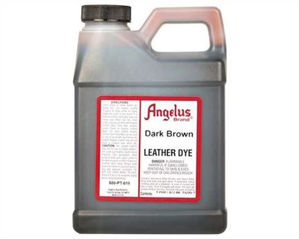 ANGELUS LEATHER DYE DARK BROWN #018 1 PINT/473ML
