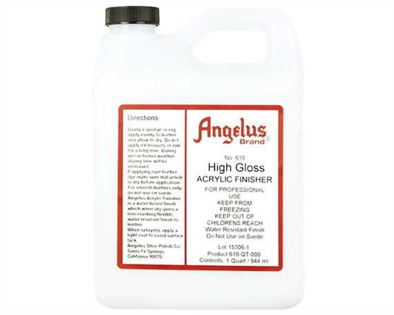ANGELUS ACRYLIC CLEAR FINISH HI GLOSS #610 (1 QRT) 946ML