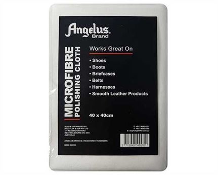 ANGELUS POLISH CLOTH WHITE MICROFIBER 40CM X 40CM