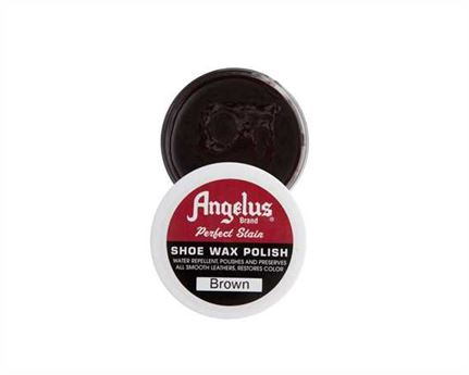 ANGELUS SHOE WAX BROWN 75GM