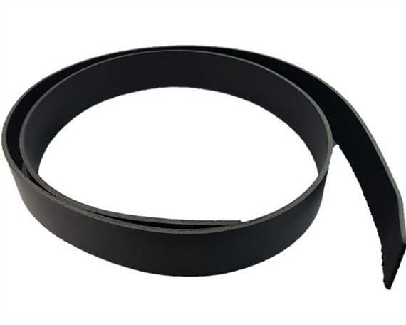 BELT STRAP BLACK 127CM X 30MM CUT FROM 3.0MM ITALIAN DOUBLE SHOULDER