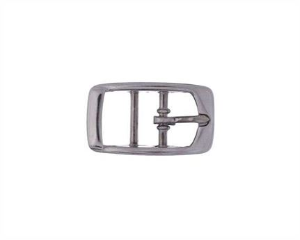 BUCKLE 2-BAR PET NICKEL PLATE 12MM