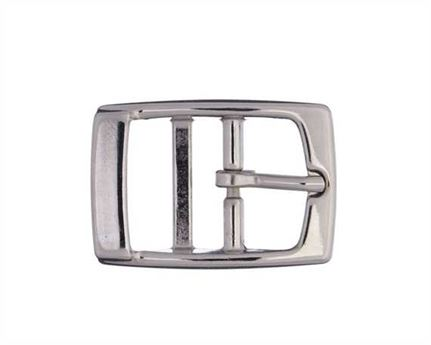 BUCKLE 2-BAR PET NICKEL PLATE 25MM