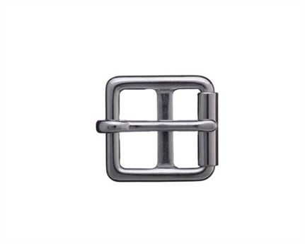 BUCKLE BARRED ROLLER GIRTH STAINLESS STEEL 25MM