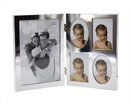 "PICTURE FRAME SILVER PLATED HINGED 5"" X 7"""