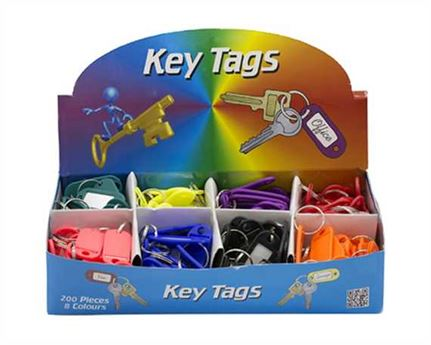 BIRCH KEY TAGS PER BOX OF 200 WITH KEY RINGS