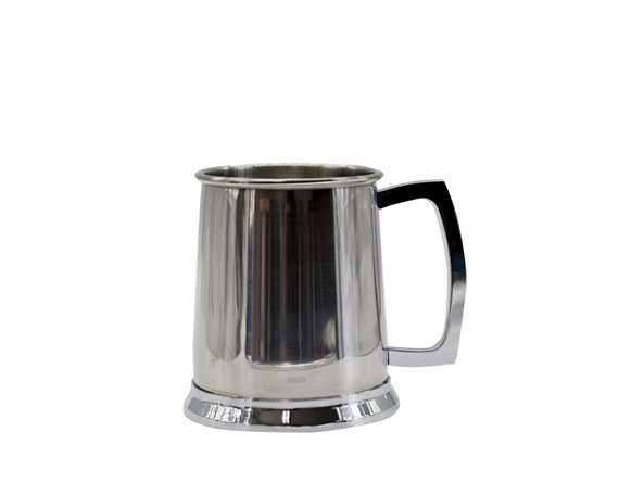 TANKARD PLAIN POLISHED STAINLESS STEEL 1 PINT
