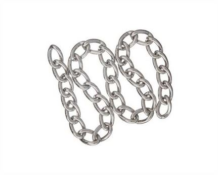 CHAIN BOOT NICKEL PLATE (PER LINEAL MTR) 2.5MM DIAM.