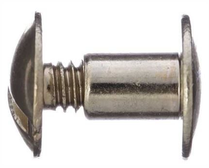 SCREW CHICAGO / KEY POST PLAIN HEAD #1290-11B GILT 10mm Diameter