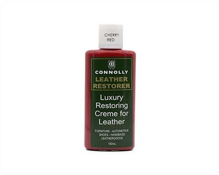 CONNOLLY LUXURY LEATHER RESTORING CREME CHERRY RED 150ML