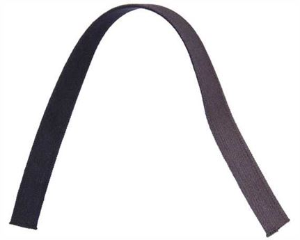 ELASTIC GIRTH ENGLISH BLACK/BROWN 16MM (PER L/MTR)