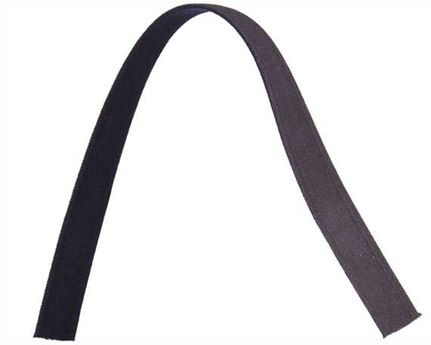 ELASTIC GIRTH ENGLISH BLACK/BROWN 19MM (PER L/MTR)