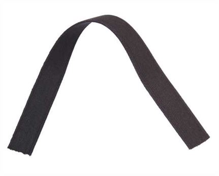 ELASTIC GIRTH ENGLISH BLACK/BROWN 22MM (PER L/MTR)