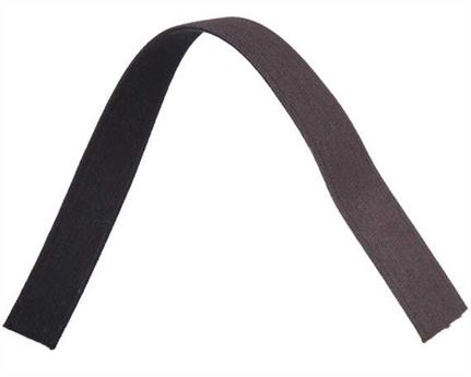 ELASTIC GIRTH ENGLISH BLACK/BROWN 25MM (PER L/MTR)