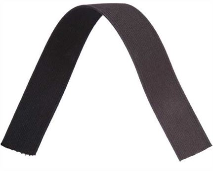 ELASTIC GIRTH ENGLISH BLACK/BROWN 32MM (PER L/MTR)