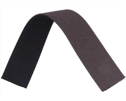 ELASTIC GIRTH ENGLISH BLACK/BROWN 38MM (PER L/MTR)