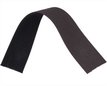 ELASTIC GIRTH ENGLISH BLACK/BROWN 44MM (PER L/MTR)
