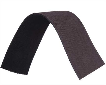 ELASTIC GIRTH ENGLISH BLACK/BROWN 51MM (PER L/MTR)