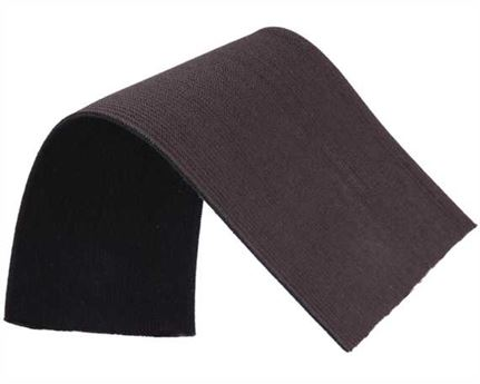 ELASTIC GIRTH ENGLISH BLACK/BROWN 76MM (PER L/MTR)