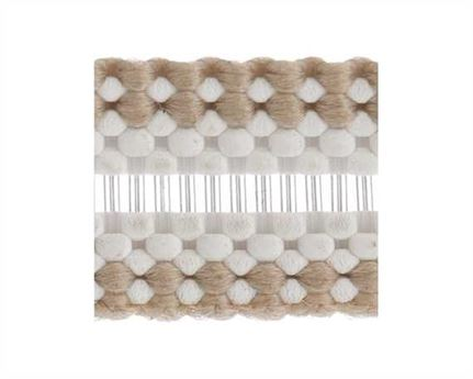 ELASTIC BUCKLE BEIGE STYLE #1686 (PER L/MTR) 6MM