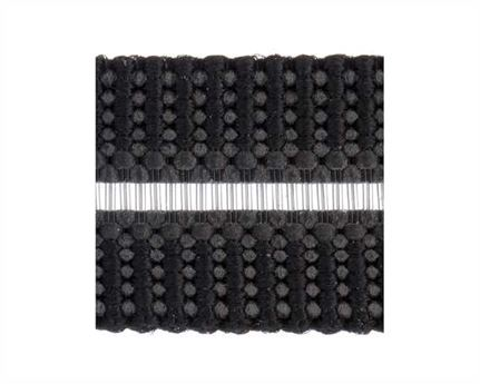 ELASTIC BUCKLE BLACK STYLE #1686 (PER L/MTR) 10MM