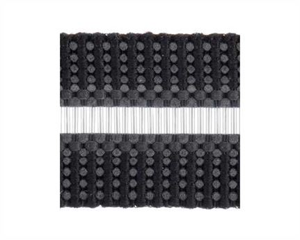 ELASTIC BUCKLE BLACK STYLE #1686 (PER L/MTR) 12MM