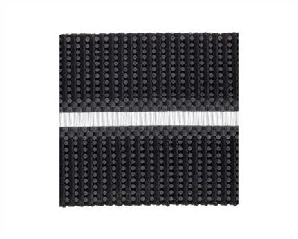 ELASTIC BUCKLE BLACK STYLE #1686 (PER L/MTR) 20MM