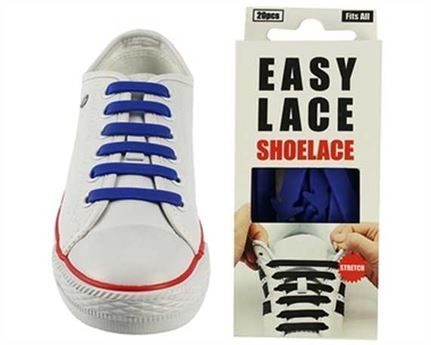 EASY LACE FLAT BOX 20 PCE BLUE