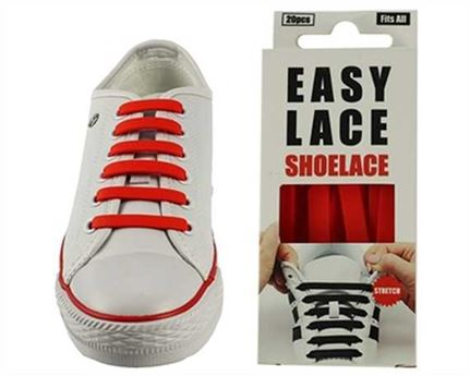 EASY LACE FLAT BOX 20 PCE RED