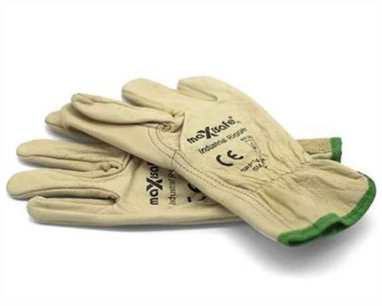 GLOVE COW HIDE RIGGER BEIGE SMALL (PAIR)