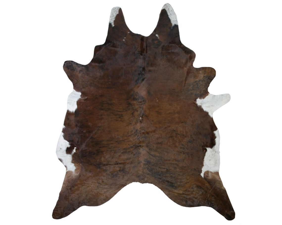 Exotic Cowhide Rug with White Belly